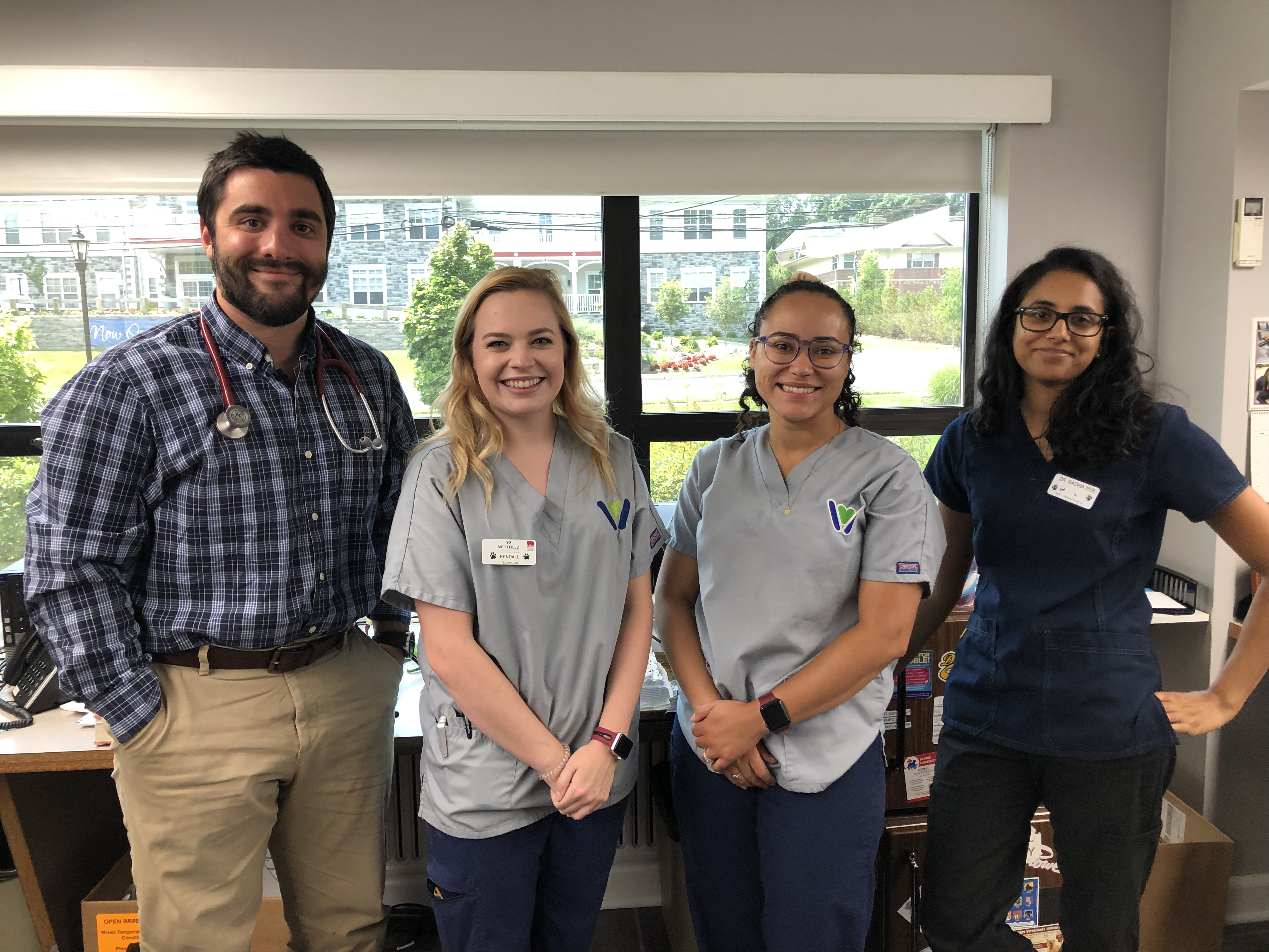 Westfield veterinary technicians and education team